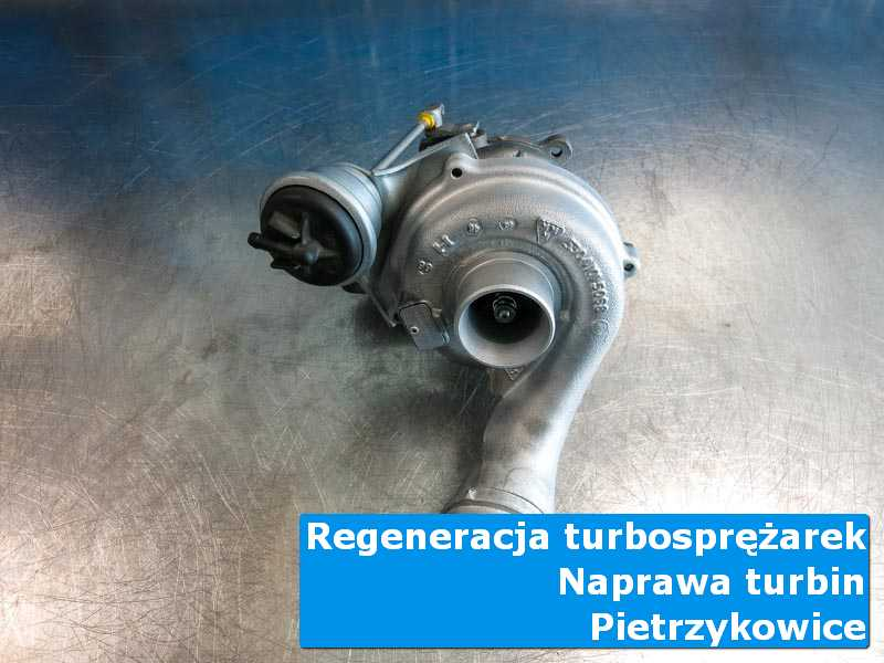 Układ turbodoładowania po naprawie na stole w pracowni w Pietrzykowicach