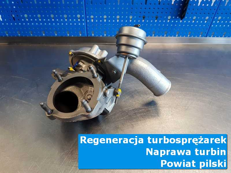 Turbosprężarka po przywróceniu sprawności w specjalistycznej pracowni, powiat pilski