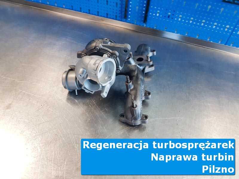 Układ turbodoładowania po wymianie na stole w pracowni z Pilzna