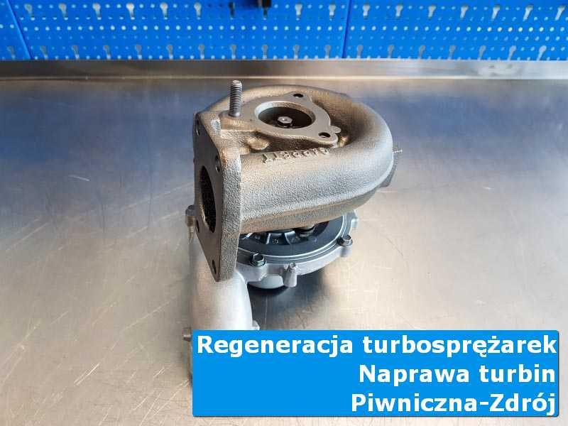 Układ turbodoładowania po naprawie na stole w laboratorium w Piwnicznej-Zdroju