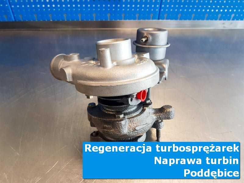 Układ turbodoładowania po przygotowaniu na stole w pracowni z Poddębic