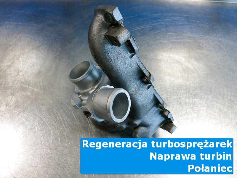 Układ turbodoładowania przed demontażem na stole pracowniczym w Połańcu