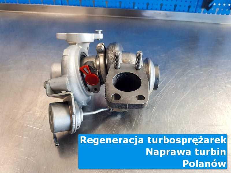 Układ turbodoładowania przed wysyłką w nowoczesnej pracowni w Polanowie