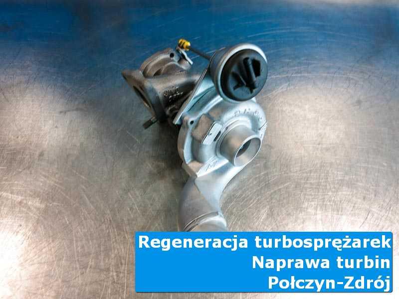 Turbosprężarka po przygotowaniu na stole w laboratorium w Połczynie-Zdroju
