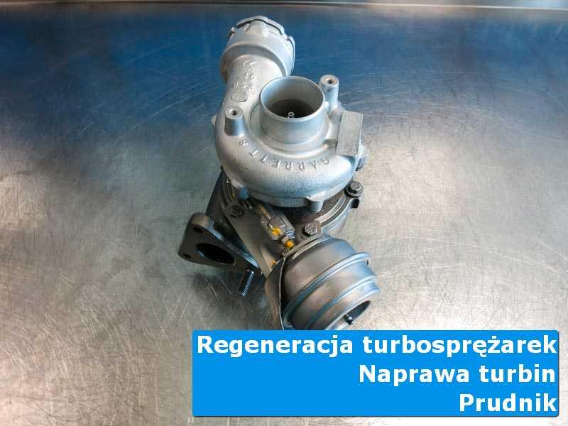 Turbosprężarka przed demontażem w warsztacie w Prudniku