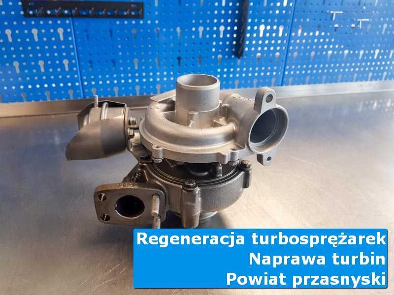 Turbosprężarka po naprawie w warsztacie, powiat przasnyski