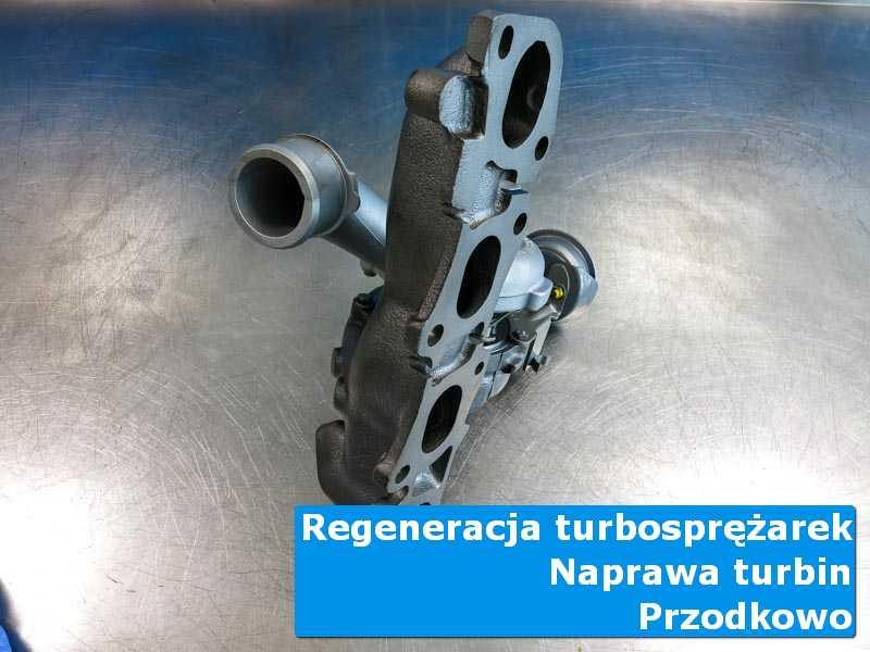 Turbosprężarka przed montażem w warsztacie w Przodkowie
