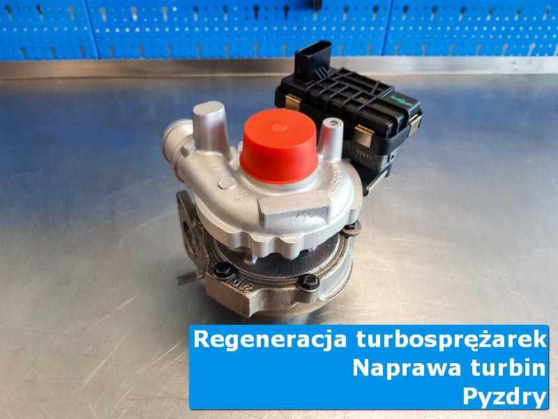 Układ turbodoładowania przed pakowaniem w warsztacie w Pyzdrach