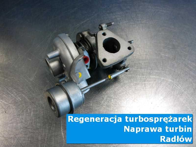 Układ turbodoładowania po wyważaniu na stole w laboratorium z Radłowa