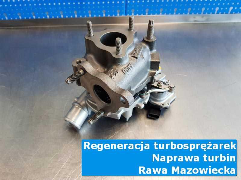Turbosprężarka przed pakowaniem w nowoczesnej pracowni w Rawie Mazowieckiej