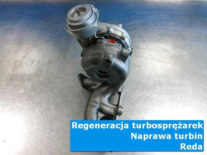 Układ turbodoładowania przed demontażem w specjalistycznej pracowni w Redzie