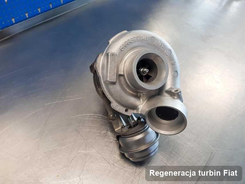 Turbina do samochodu sygnowane logiem Fiat zregenerowana w pracowni gdzie realizuje się serwis Regeneracja turbin