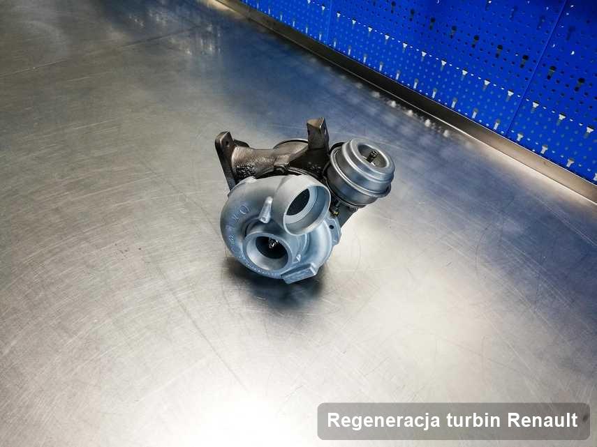 Turbosprężarka do samochodu osobowego z logo Renault wyremontowana w warsztacie gdzie zleca się serwis Regeneracja turbin