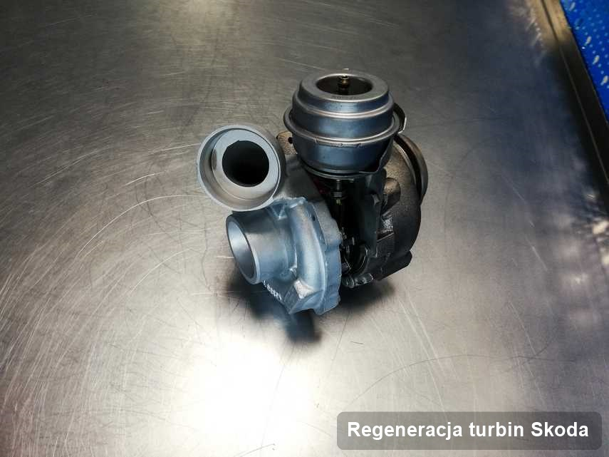 Turbosprężarka do samochodu spod znaku Skoda po naprawie w przedsiębiorstwie gdzie wykonuje się serwis Regeneracja turbin