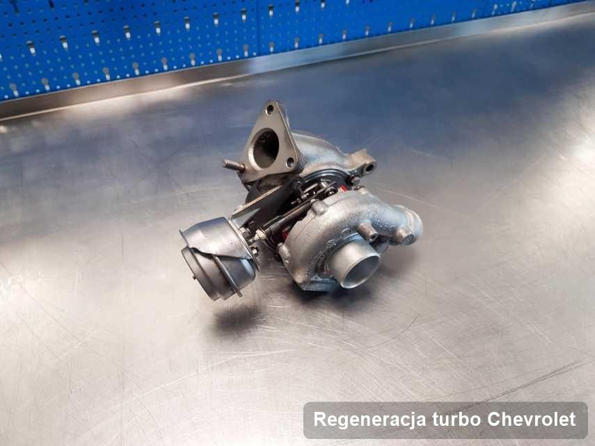 Turbosprężarka do diesla sygnowane logiem Chevrolet wyczyszczona w przedsiębiorstwie gdzie zleca się serwis Regeneracja turbo