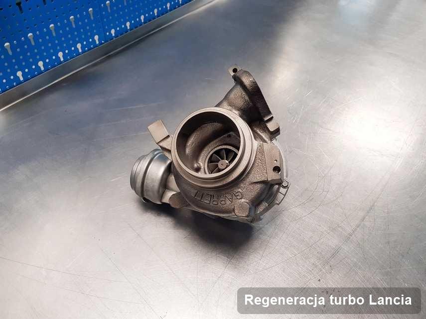 Turbina do samochodu spod znaku Lancia zregenerowana w firmie gdzie przeprowadza się  usługę Regeneracja turbo