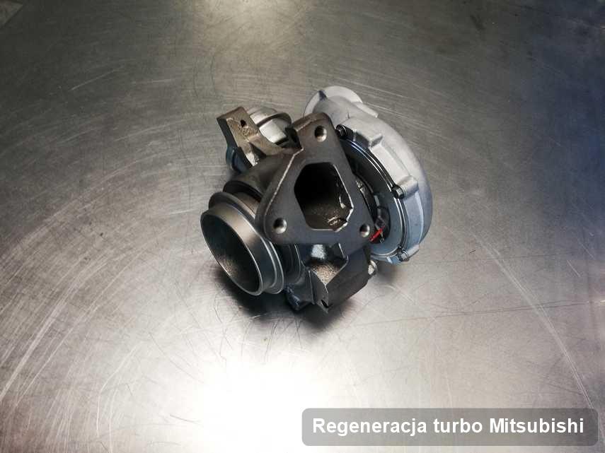 Turbina do auta sygnowane logiem Mitsubishi wyremontowana w przedsiębiorstwie gdzie zleca się serwis Regeneracja turbo