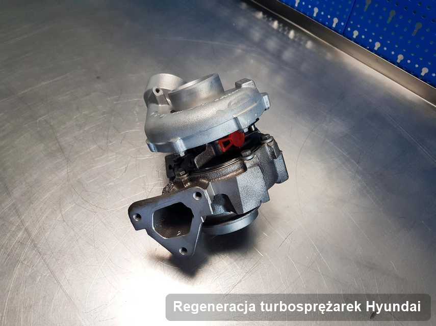 Turbina do pojazdu firmy Hyundai wyremontowana w firmie gdzie wykonuje się serwis Regeneracja turbosprężarek
