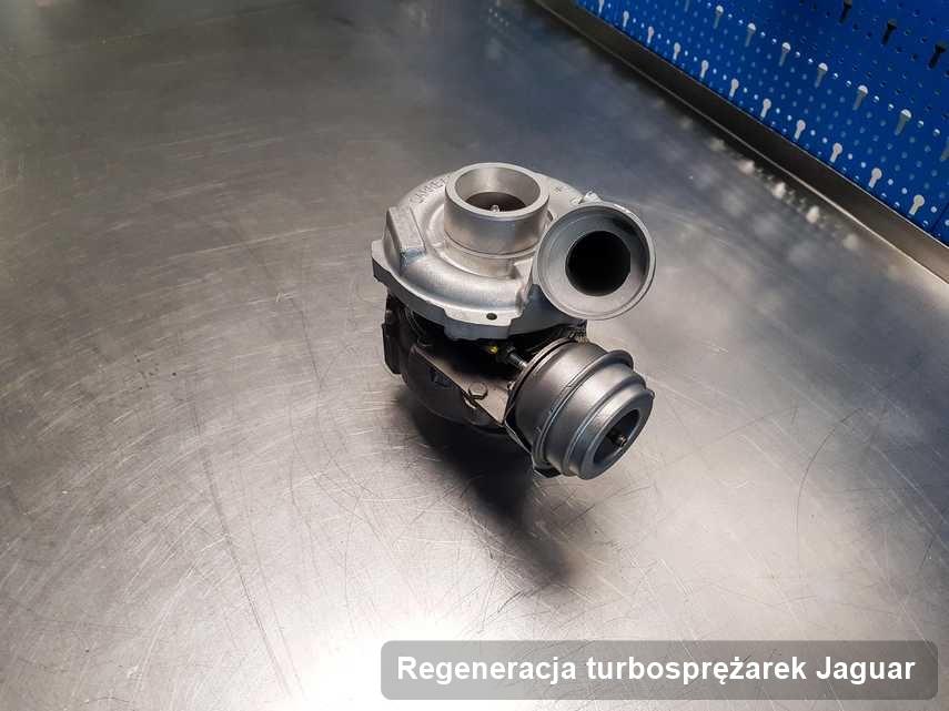 Turbina do diesla z logo Jaguar zregenerowana w laboratorium gdzie zleca się serwis Regeneracja turbosprężarek