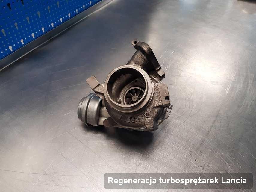 Turbina do auta producenta Lancia po naprawie w warsztacie gdzie przeprowadza się  usługę Regeneracja turbosprężarek