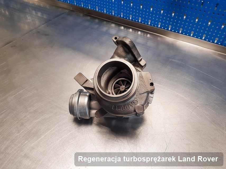 Turbosprężarka do pojazdu producenta Land Rover zregenerowana w pracowni gdzie wykonuje się serwis Regeneracja turbosprężarek