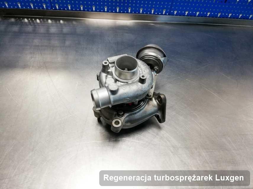 Turbosprężarka do samochodu osobowego spod znaku Luxgen po remoncie w pracowni gdzie wykonuje się serwis Regeneracja turbosprężarek