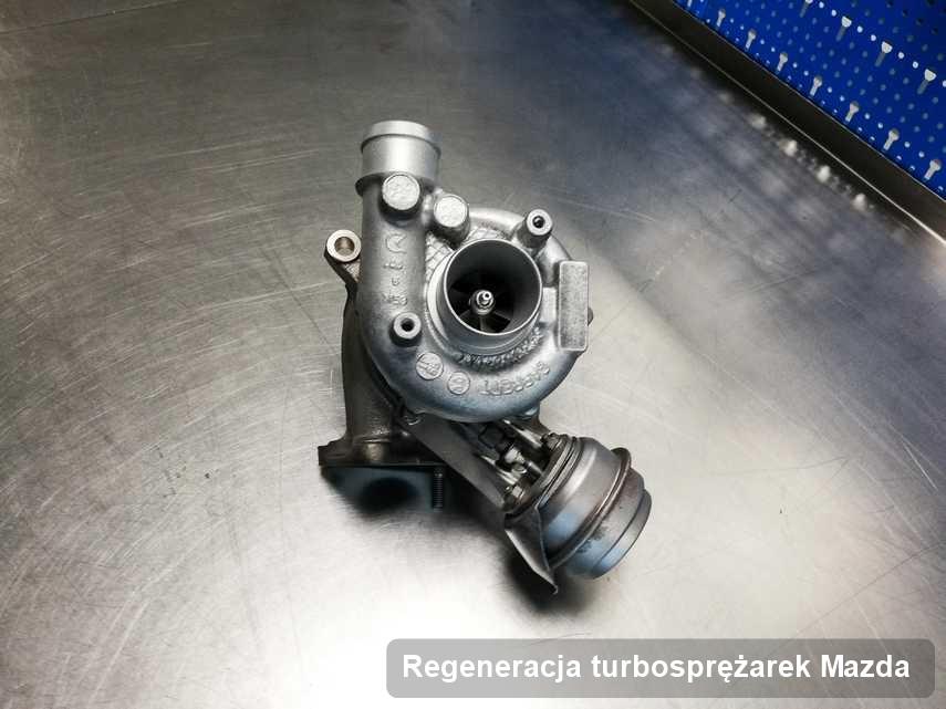 Turbina do samochodu osobowego spod znaku Mazda wyczyszczona w firmie gdzie zleca się usługę Regeneracja turbosprężarek