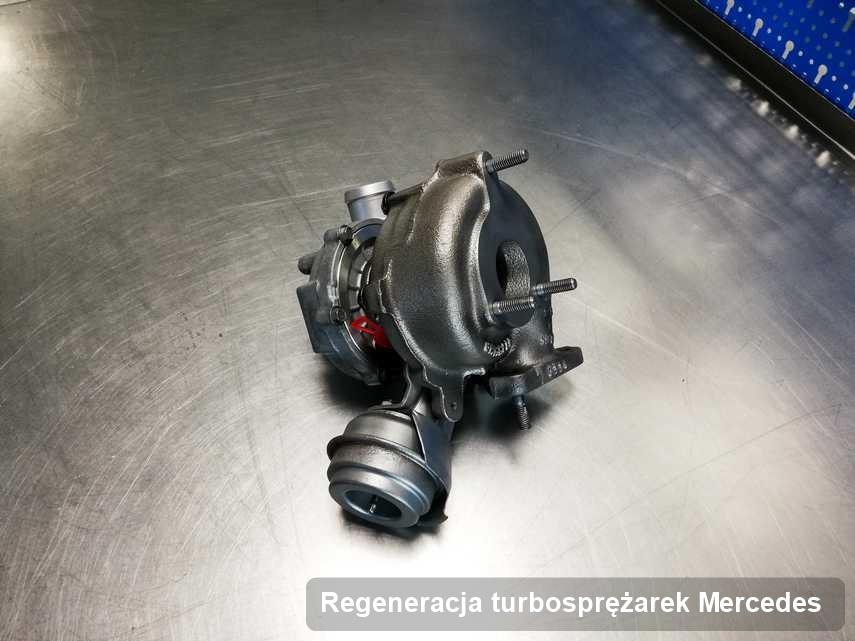 Turbina do diesla firmy Mercedes po naprawie w firmie gdzie wykonuje się usługę Regeneracja turbosprężarek