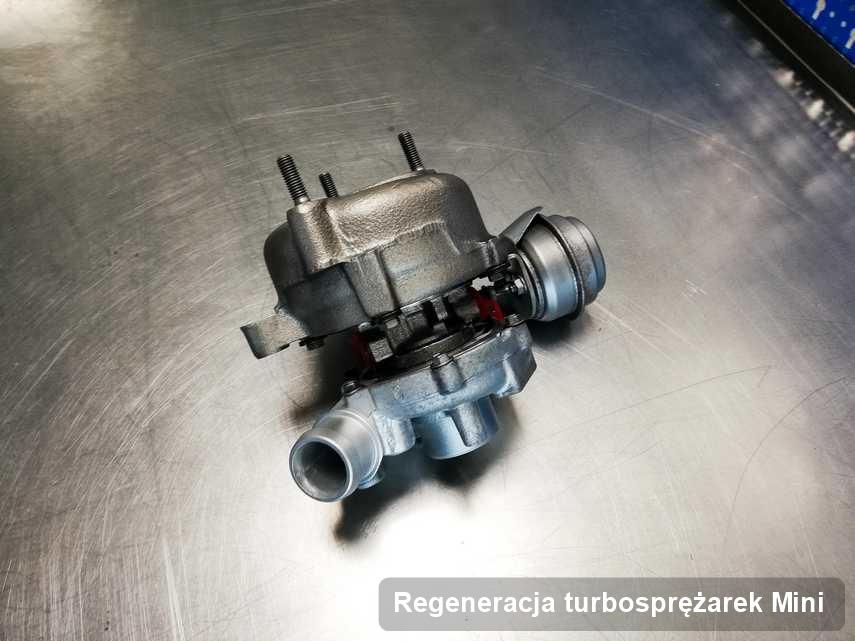 Turbina do pojazdu z logo Mini wyremontowana w warsztacie gdzie realizuje się serwis Regeneracja turbosprężarek