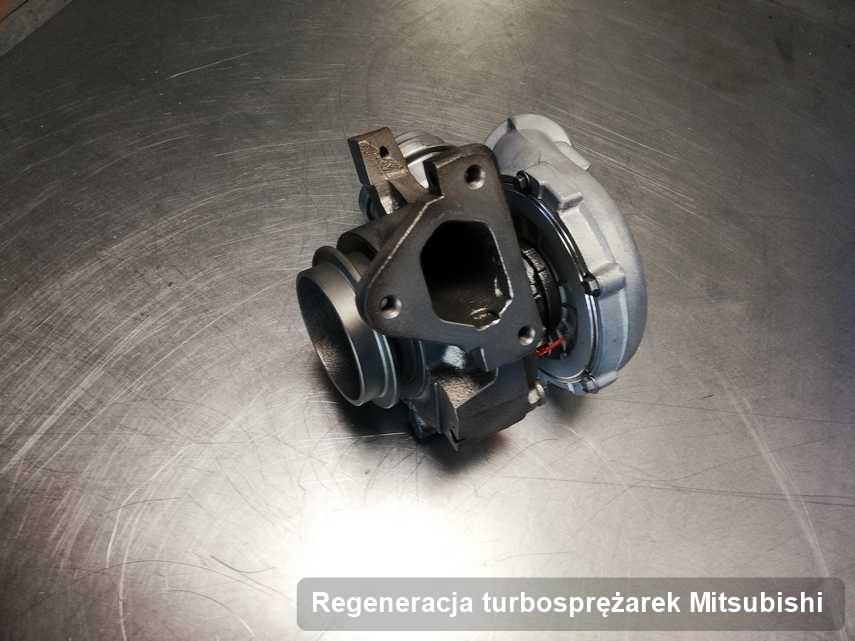 Turbina do osobówki sygnowane logiem Mitsubishi po naprawie w firmie gdzie wykonuje się serwis Regeneracja turbosprężarek