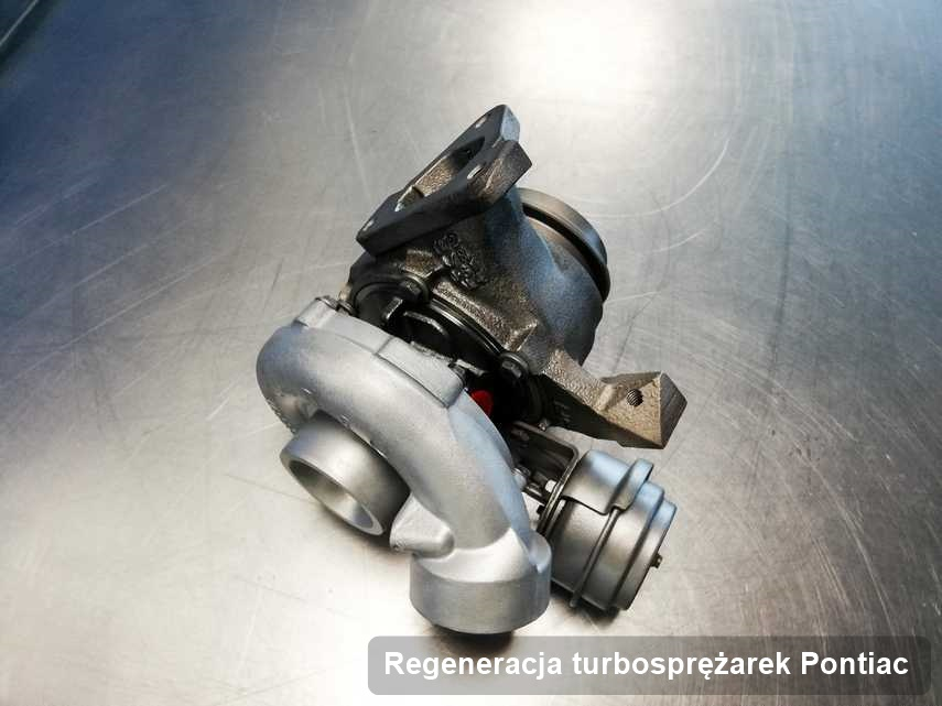 Turbina do osobówki spod znaku Pontiac wyremontowana w firmie gdzie przeprowadza się  serwis Regeneracja turbosprężarek