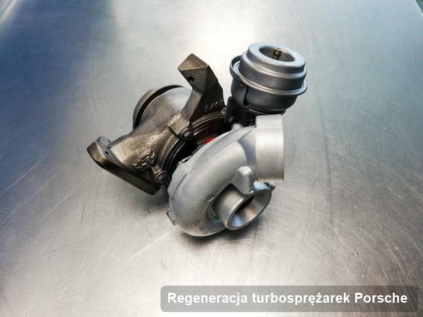 Turbina do samochodu marki Porsche wyremontowana w laboratorium gdzie przeprowadza się  usługę Regeneracja turbosprężarek