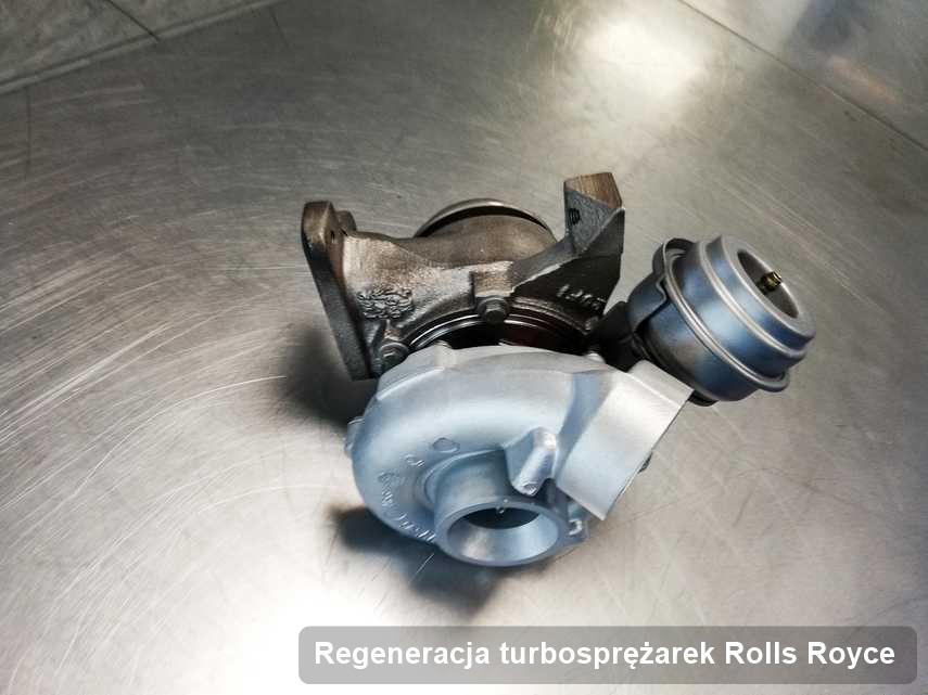 Turbina do osobówki marki Rolls Royce po remoncie w przedsiębiorstwie gdzie zleca się serwis Regeneracja turbosprężarek