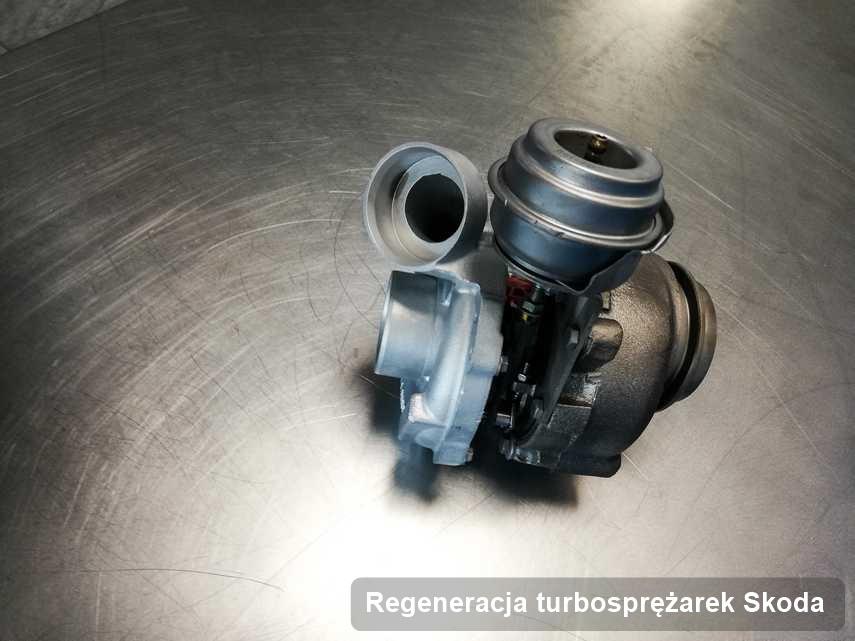 Turbosprężarka do auta producenta Skoda wyremontowana w pracowni gdzie wykonuje się usługę Regeneracja turbosprężarek