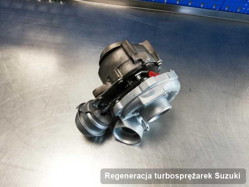 Turbosprężarka do auta osobowego producenta Suzuki zregenerowana w przedsiębiorstwie gdzie wykonuje się usługę Regeneracja turbosprężarek