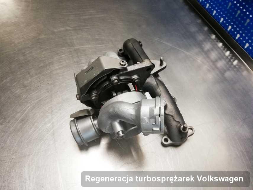 Turbosprężarka do auta osobowego marki Volkswagen po naprawie w pracowni gdzie przeprowadza się  serwis Regeneracja turbosprężarek
