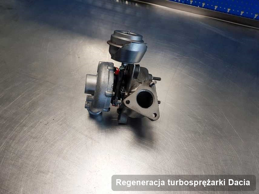 Turbosprężarka do auta osobowego firmy Dacia naprawiona w firmie gdzie zleca się serwis Regeneracja turbosprężarki