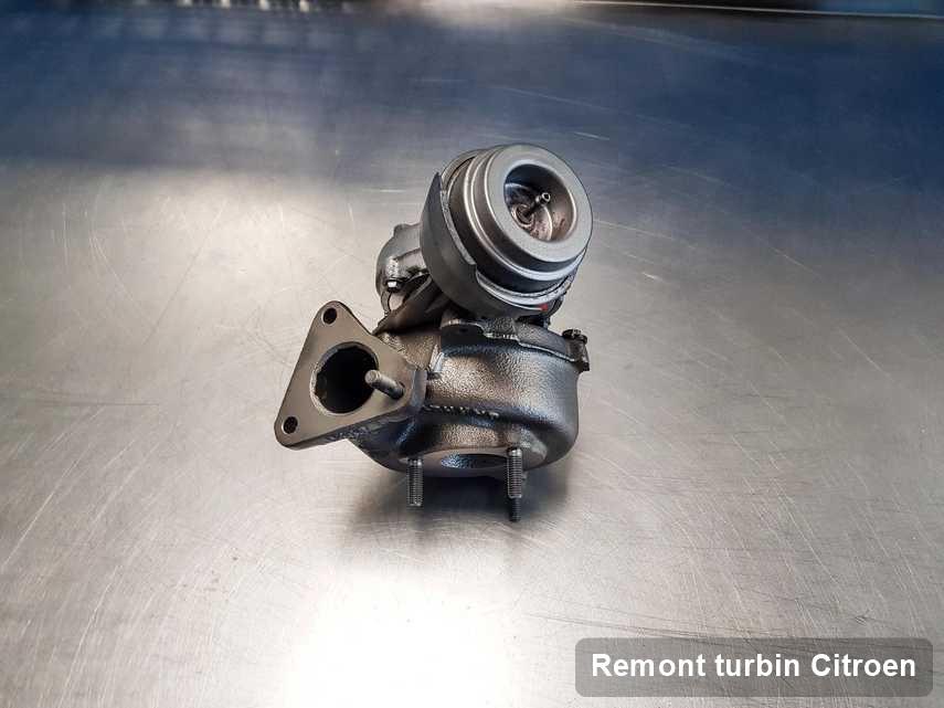 Turbosprężarka do samochodu osobowego marki Citroen wyremontowana w firmie gdzie realizuje się usługę Remont turbin