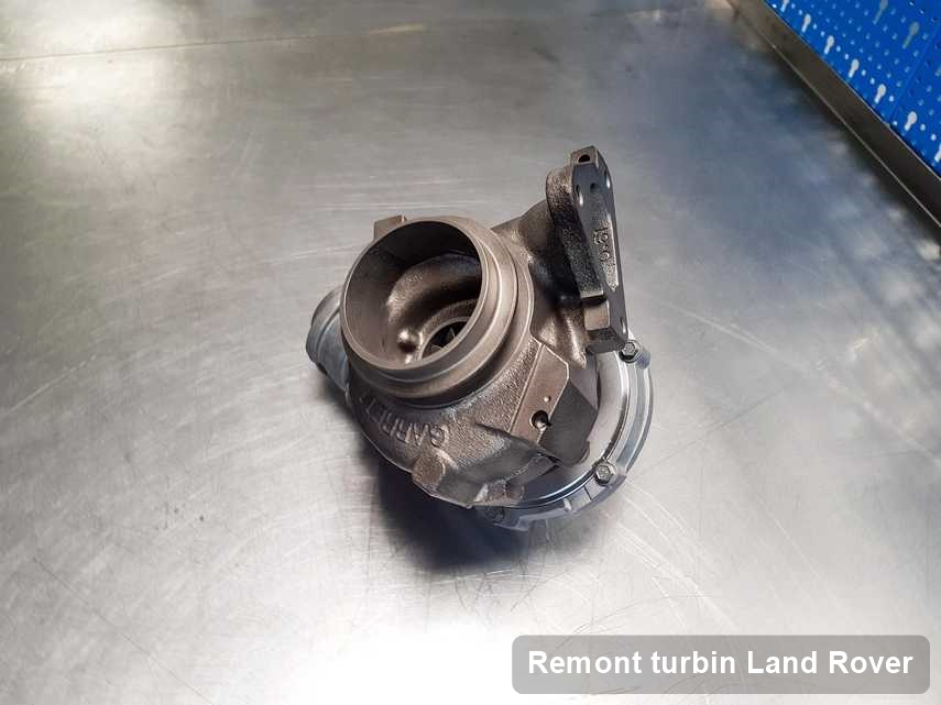 Turbosprężarka do auta marki Land Rover wyremontowana w pracowni gdzie przeprowadza się  usługę Remont turbin