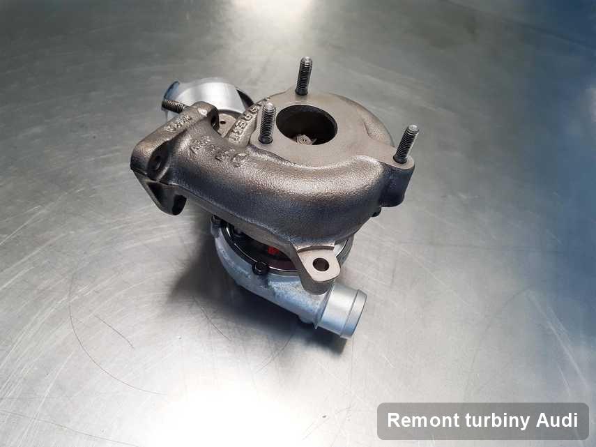 Turbina do samochodu z logo Audi wyremontowana w laboratorium gdzie przeprowadza się  serwis Remont turbiny