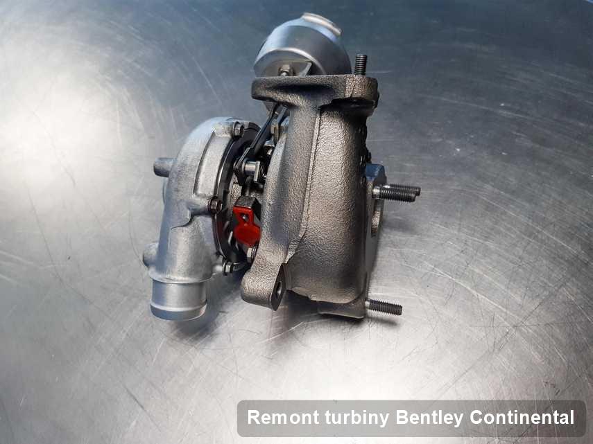 Turbosprężarka do samochodu firmy Bentley Continental po naprawie w firmie gdzie wykonuje się usługę Remont turbiny