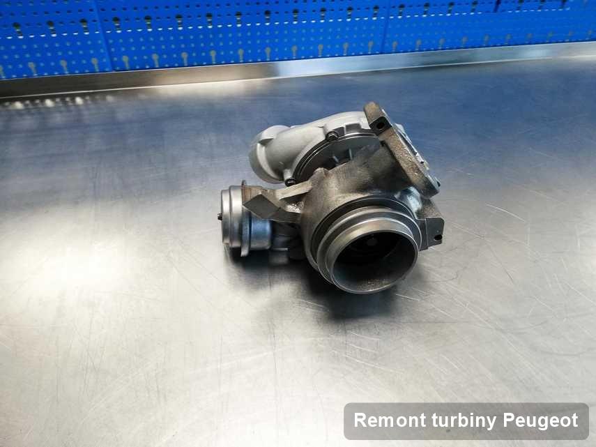 Turbina do osobówki spod znaku Peugeot naprawiona w przedsiębiorstwie gdzie realizuje się serwis Remont turbiny