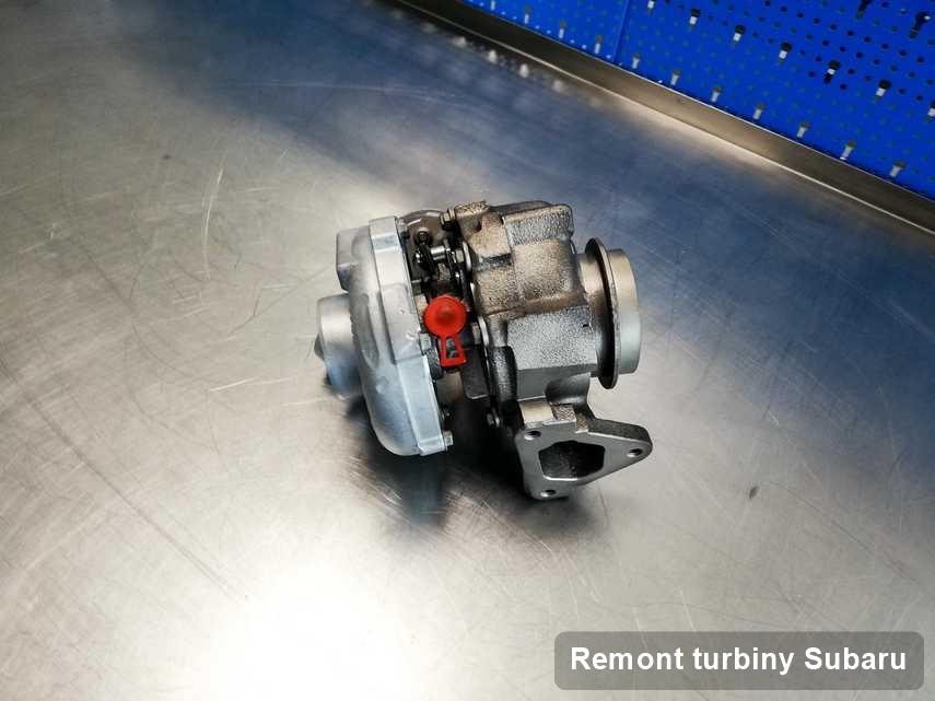 Turbina do samochodu spod znaku Subaru zregenerowana w firmie gdzie przeprowadza się  serwis Remont turbiny