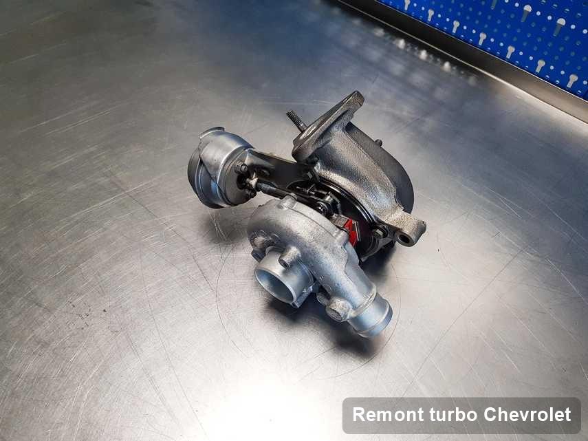 Turbina do auta sygnowane logiem Chevrolet naprawiona w firmie gdzie realizuje się usługę Remont turbo