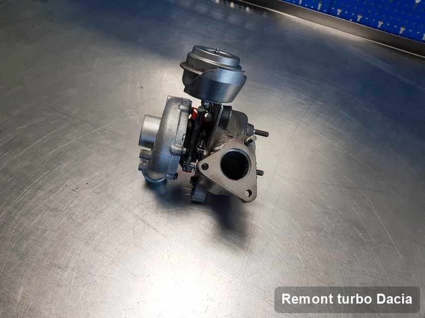 Turbina do samochodu osobowego sygnowane logiem Dacia wyremontowana w przedsiębiorstwie gdzie przeprowadza się  usługę Remont turbo