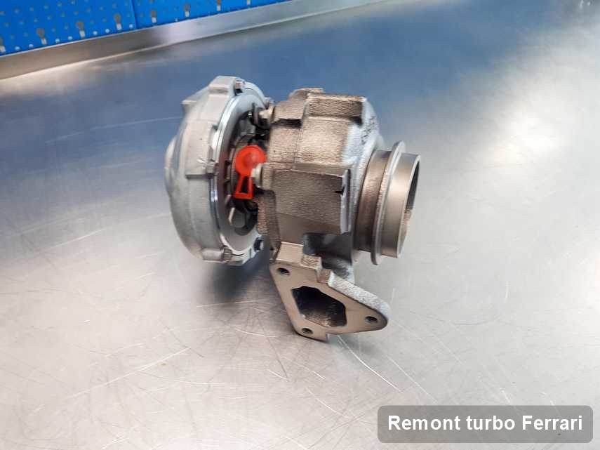 Turbina do auta osobowego firmy Ferrari po naprawie w firmie gdzie realizuje się serwis Remont turbo