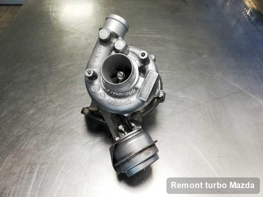 Turbina do samochodu firmy Mazda po remoncie w warsztacie gdzie wykonuje się usługę Remont turbo