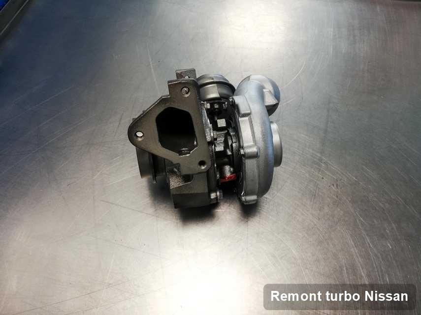 Turbina do samochodu osobowego firmy Nissan naprawiona w pracowni gdzie przeprowadza się  usługę Remont turbo