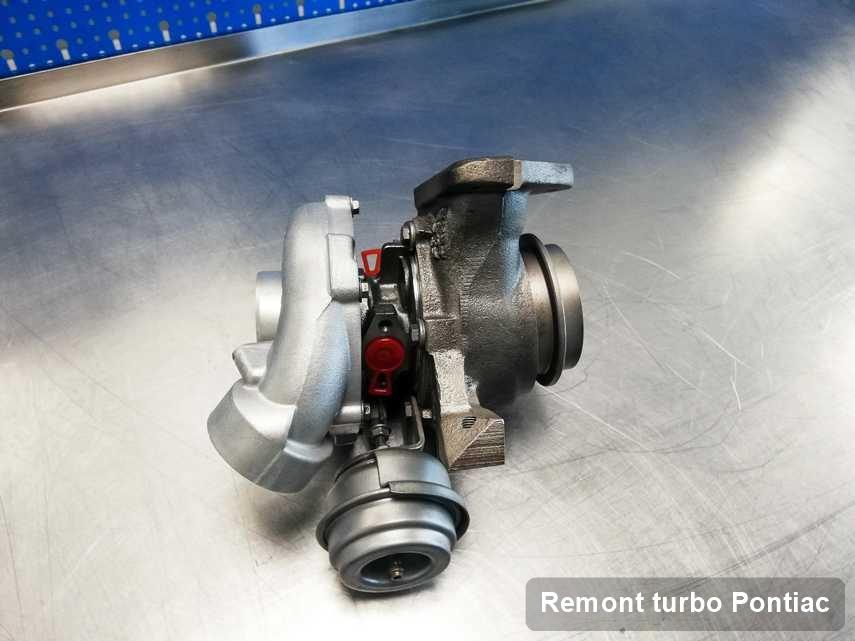 Turbina do samochodu firmy Pontiac wyczyszczona w przedsiębiorstwie gdzie przeprowadza się  serwis Remont turbo