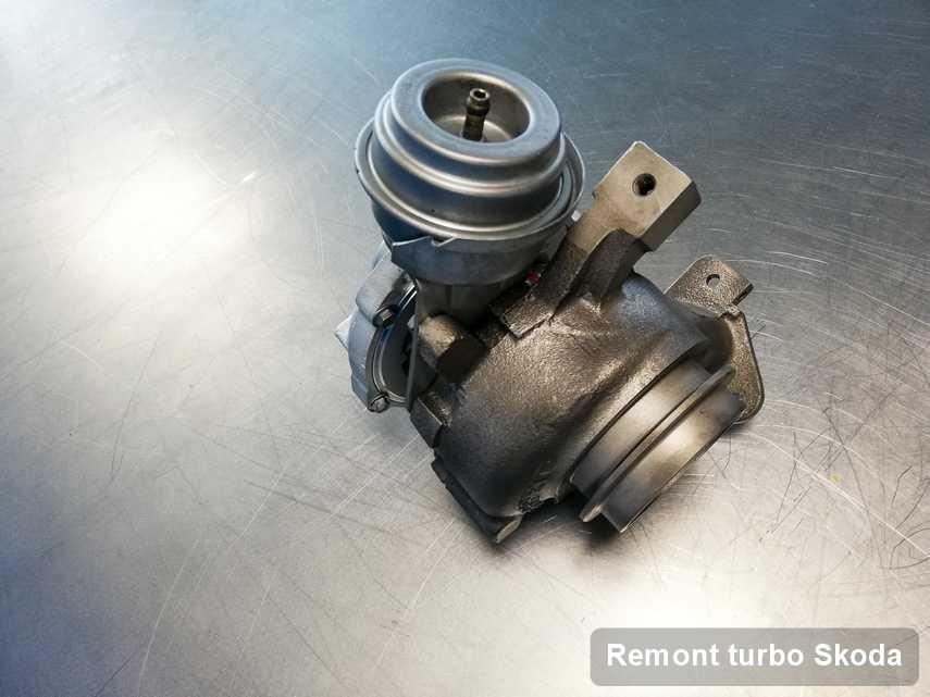 Turbosprężarka do samochodu osobowego producenta Skoda naprawiona w firmie gdzie zleca się serwis Remont turbo